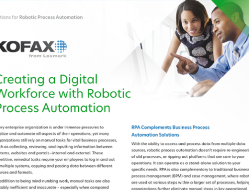 Creating a Digital Workforce with Robotic Process Automation